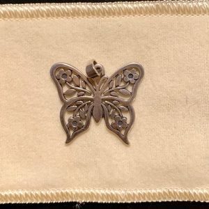 James Avery retired floral butterfly pendant